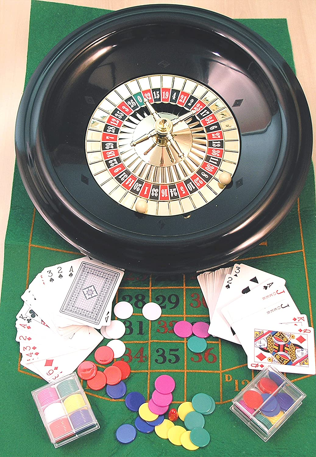 Roulette & Blackjack eingestellt - 40cm. Rad, 00612 A Kent and Cleal game