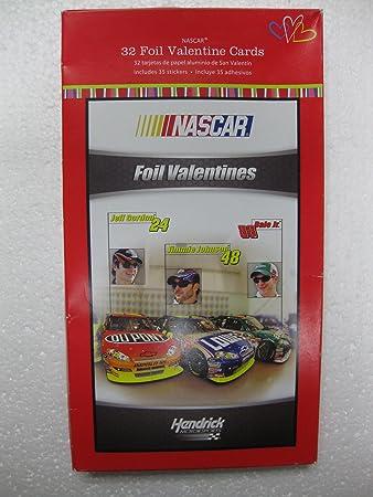 Amazoncom Nascar Racing Foil Valentine Cards for Kids 10000209