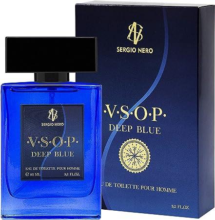 Imagen deVSOP Agua de tocador (EDT) para Hombres, 95 ml - NUEVA Fragancia para Él, La mejor idea para hacer un regalo (DEEP BLUE)