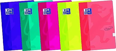 Oxford Touch - Pack de 10 libretas grapadas de tapa blanda, A4: Amazon.es: Oficina y papelería