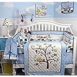 SOHO Baby Blue Cherry tree Nursery Bedding Set 14 pcs