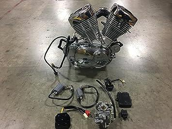 Amazon.com: Lifan nuevo 250 cc V-Twin Motor Yamaha Motor ...