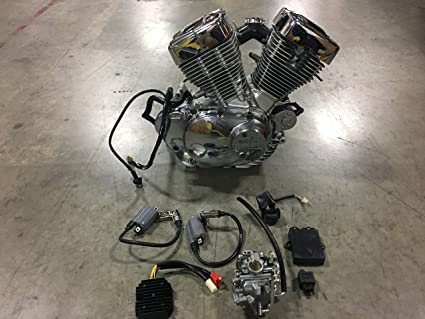 Amazon com: Lifan 250CC V-Twin Yamaha Engine Motor Mini