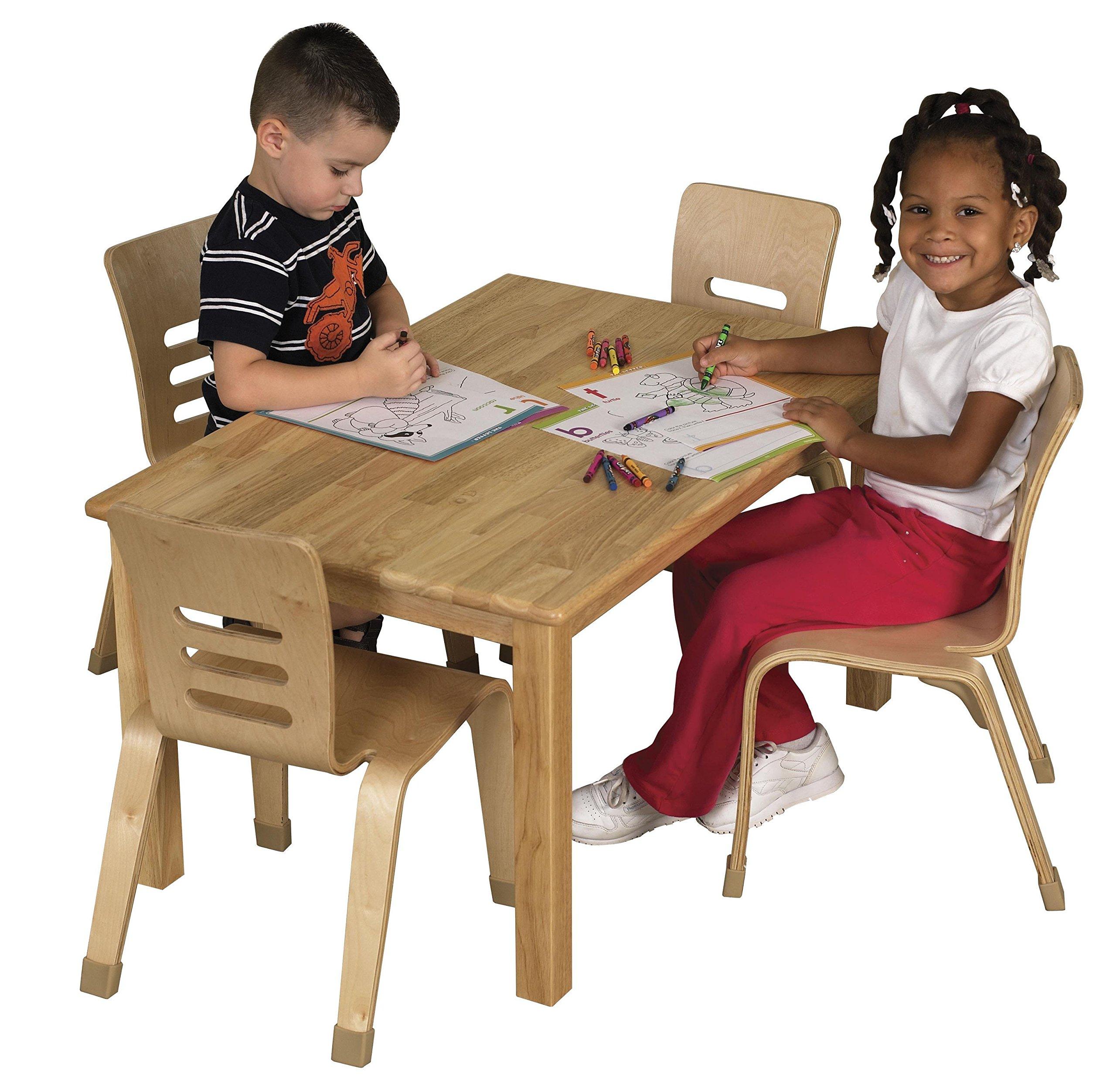 ECR4Kids 24'' x 36'' Rectangular Deluxe Hardwood Activity Table, 18''H