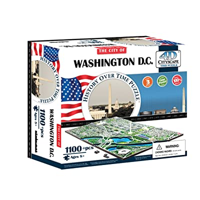 4D Washington DC Skyline Time Puzzle: Toys & Games