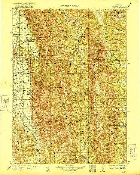 Amazon Com Yellowmaps Afton Wy Topo Map 1 125000 Scale 30 X 30