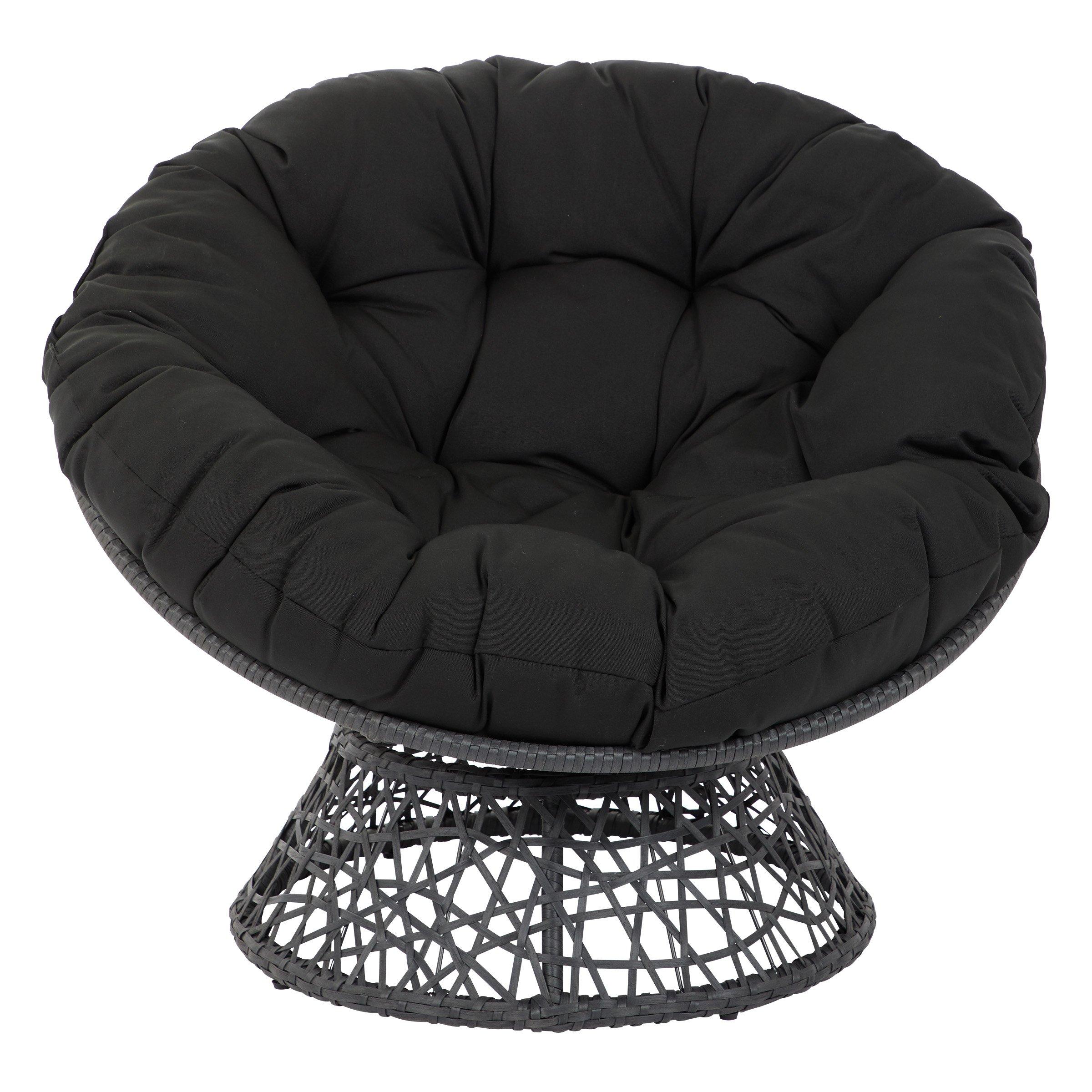 OSP Designs  Papasan Chair, Black by OSP Designs (Image #3)