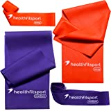 Natural Latex Resistance Bands Set- 2 in 1- Strength Bands/Loop Bands – Fit Your Body / Support Your Health