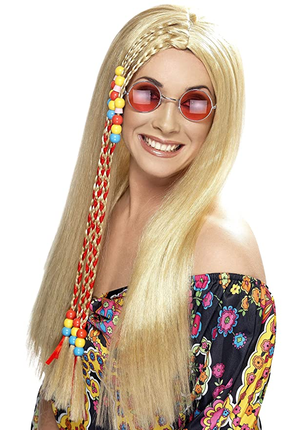 70s Headbands, Wigs, Hair Accessories Smiffys Hippy Party Wig $14.02 AT vintagedancer.com
