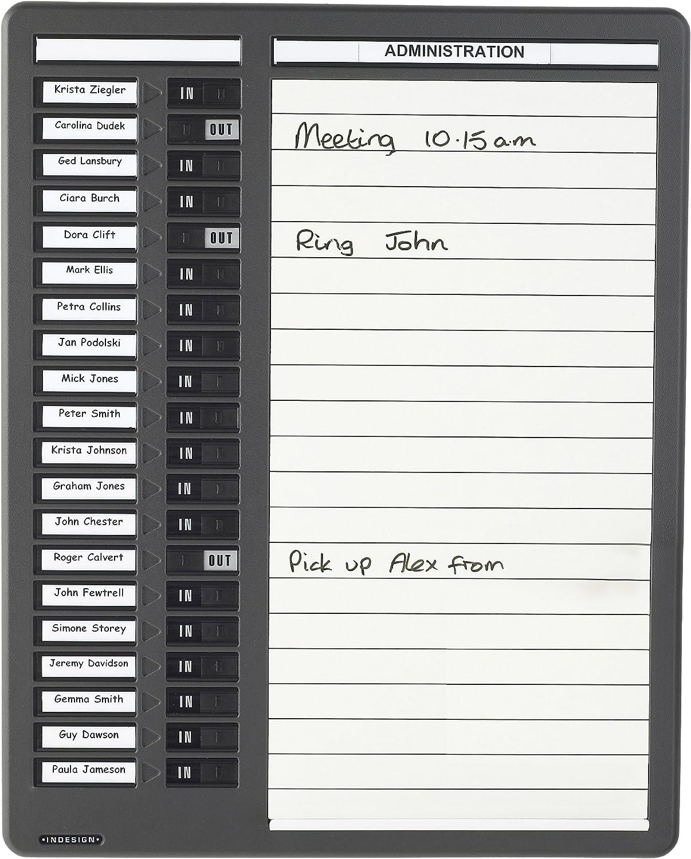 Indesign Grey In//Out Board Single Column 10 Names WPIT10I