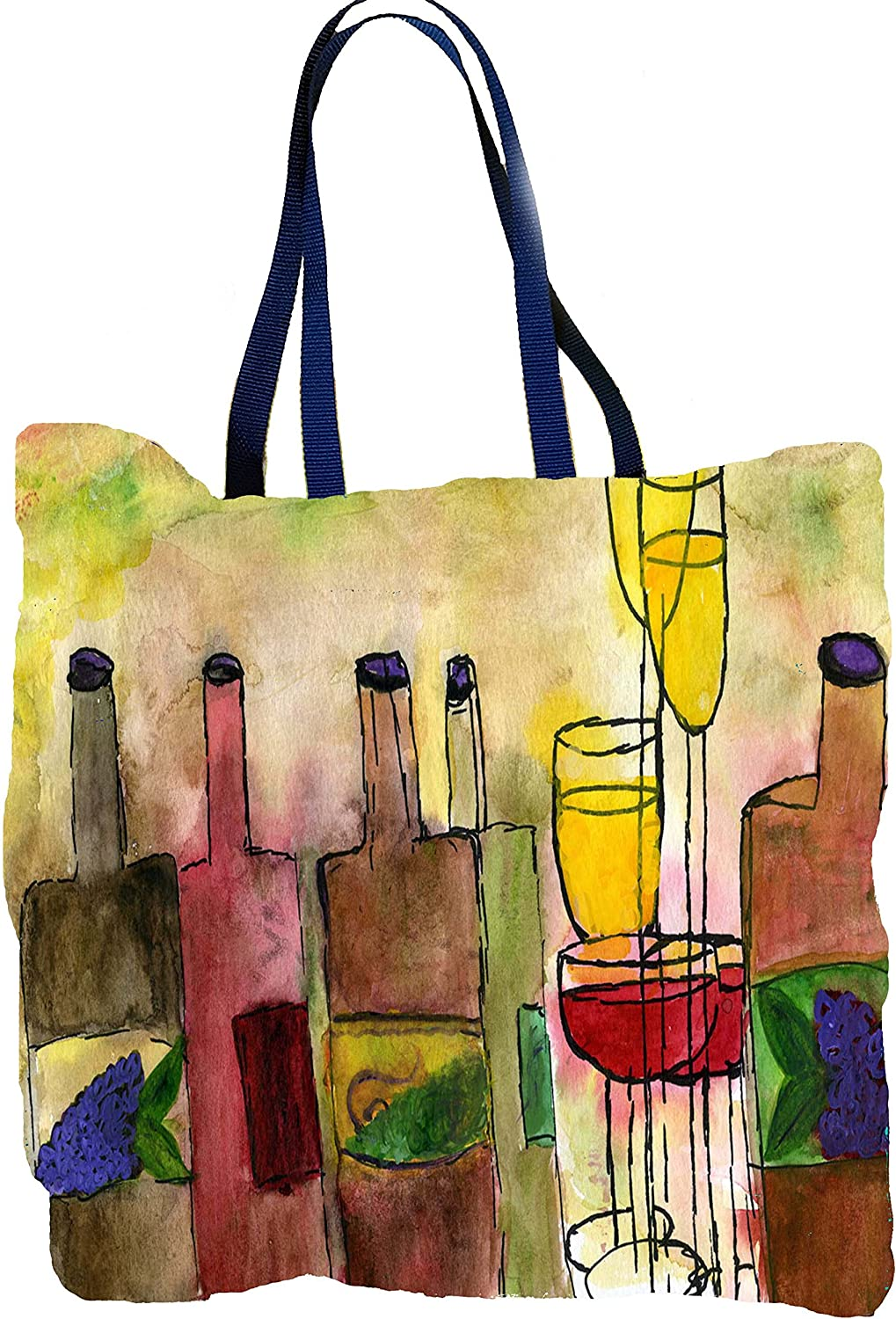 Cocktail wine and margarita large tote bags