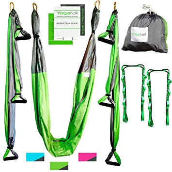 aerial yoga swing   gym strength antigravity yoga hammock   inversion trapeze sling equipment with two amazon     aerial yoga swing   gym strength antigravity yoga      rh   amazon