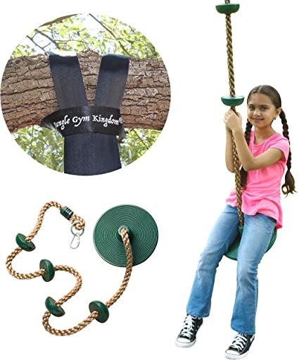 Swing Seat Replacement Kit Outdoor Playground Jungle Set w//Rope For Kids Adults