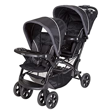 Amazoncom Baby Trend Sit And Stand Double Stroller Onyx Baby