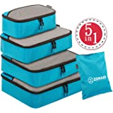 ZOMAKE Packing Cubes 5pcs Set Travel Accessories Organizers Versatile Travel Packing Bags