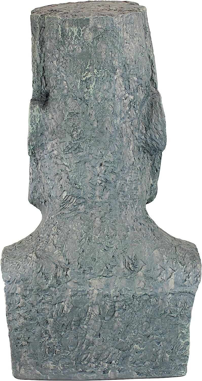Design Toscano Monolithe Ahu Akivi Moai de l/Île de P/âques Statue de Jardin pierre grise Grand 61 cm polyr/ésine