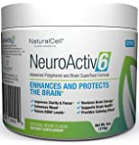NeuroActiv6 Reds Superfood Powder and Brain Energy Drink: Advanced Polyphenols + Nootropics: Increase BDNF Levels Enhance Mood, Focus & Clarity Reduce Anxiousness, Fatigue & Brain Fog