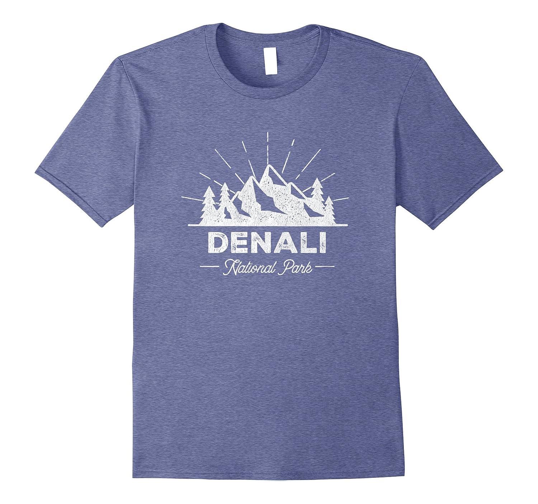 Denali T Shirt Vintage Alaska Hiking Retro Tee Design-ANZ