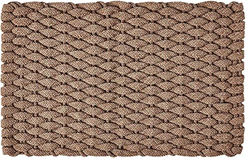 Rockport Rope Doormats 2034224 Indoor Outdoor Doormats, 20 x 34 , Tan