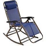 Lonlier Plegable Tumbona ajustable reclinable Relax Silla Jardín exterior 84-116cm Altura