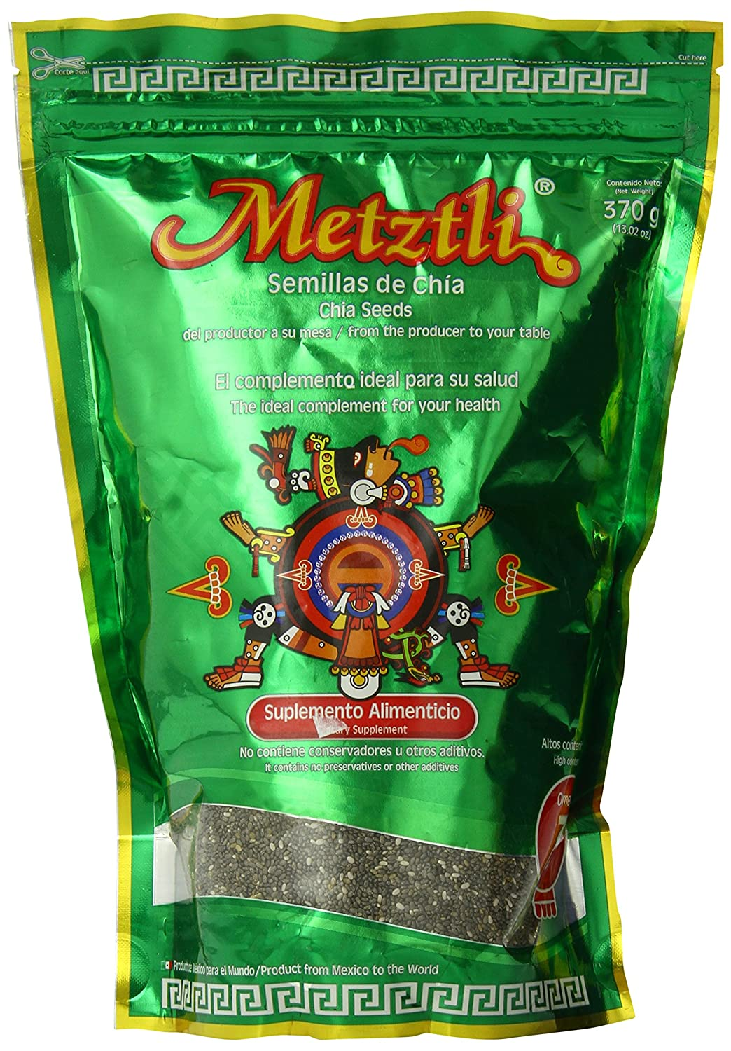 Amazon.com : Metztli Chia Seeds, 13.02 Ounce : Edible Seeds ...