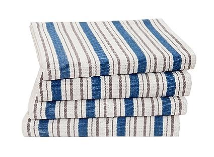 963a60381e9d Amazon.com  Cotton Craft - 4 Pack - Basket Weave Dish Cloths - Azure ...