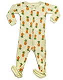 Leveret Organic Cotton Pineapple Footed Pajama