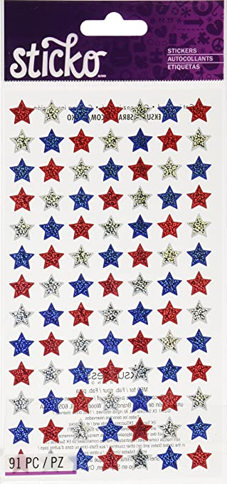 Amazon.com: Sticko 4th of July Star Stickers