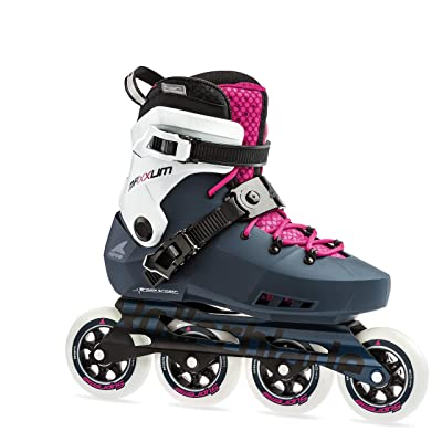 Rollerblade Maxxum Edge 90 Womens Adult Fitness Inline Skate, Sapphire and Raspberry, Premium Inline Skates : Sports & Outdoors