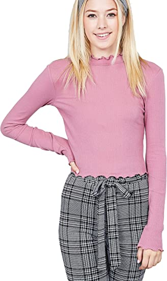 M/&Co Girls Lettuce Hem Cropped Cardigan