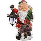 WeRChristmas–Babbo Natale con luce solare 40cm azienda una lanterna giardino decorazione natalizia
