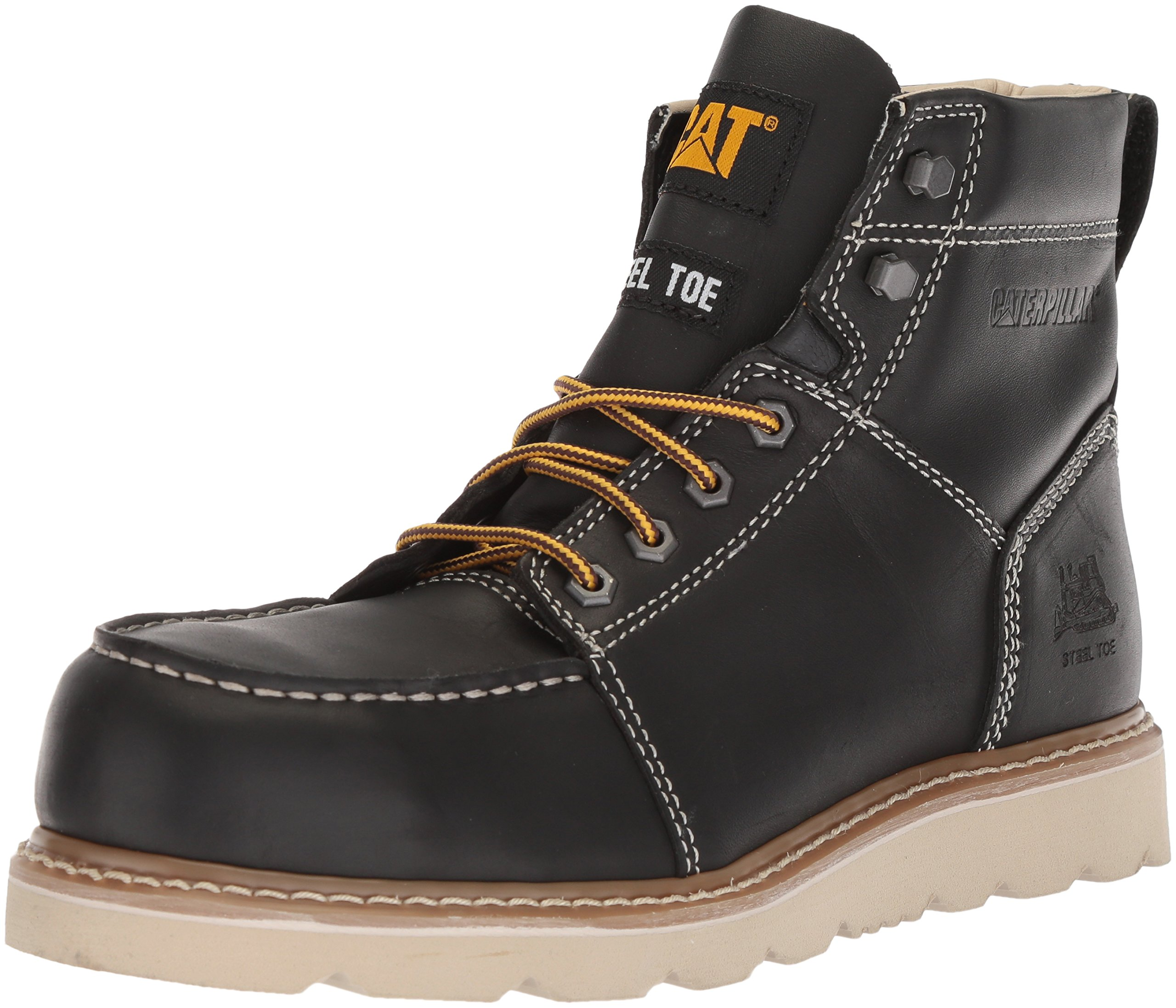 Caterpillar Men's Tradesman Steel Toe Industrial Boot, Black, 9.5 Wide US by Caterpillar