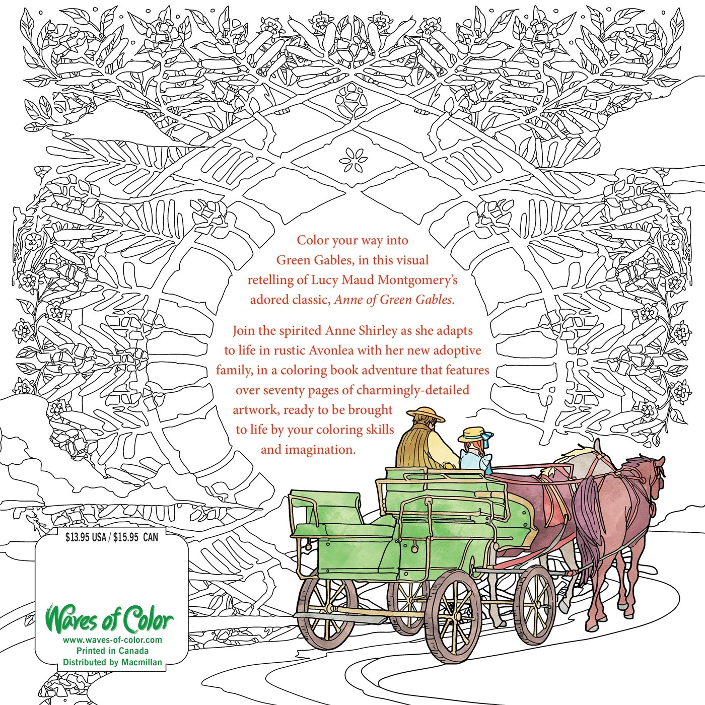 Amazon Color the Classics Anne of Green Gables A Coloring
