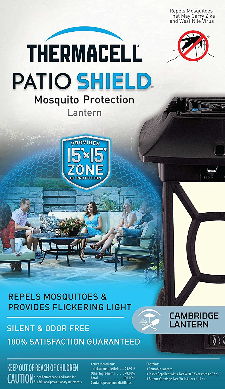 Amazon.com: Thermacell MR-9W Patio Shield Cambridge Mosquito Repeller plus  Lantern: Sports & Outdoors - Amazon.com: Thermacell MR-9W Patio Shield Cambridge Mosquito