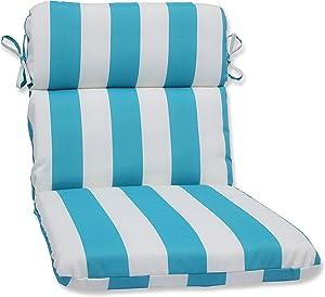 Pillow Perfect Outdoor/Indoor Cabana Stripe Round Corner Chair Cushion, 40.5