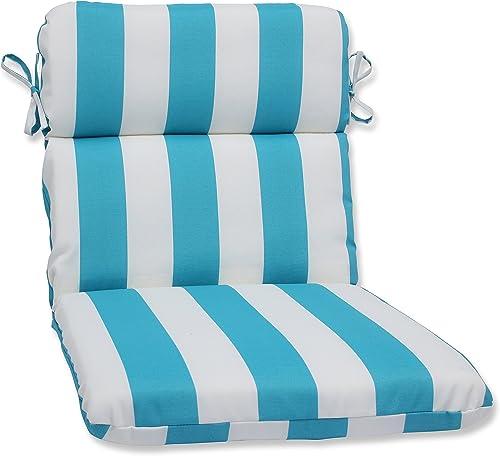 Pillow Perfect Outdoor/Indoor Cabana Stripe Round Corner Chair Cushion