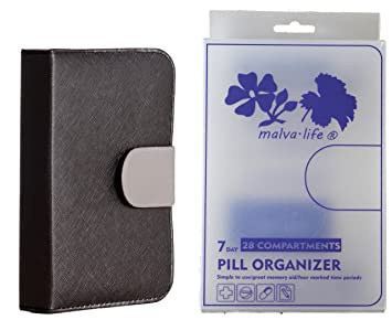 Amazon.com  Pill Organizer 4 Times a Day with Cute Case (7 Day Pill ... c4d467aa7e