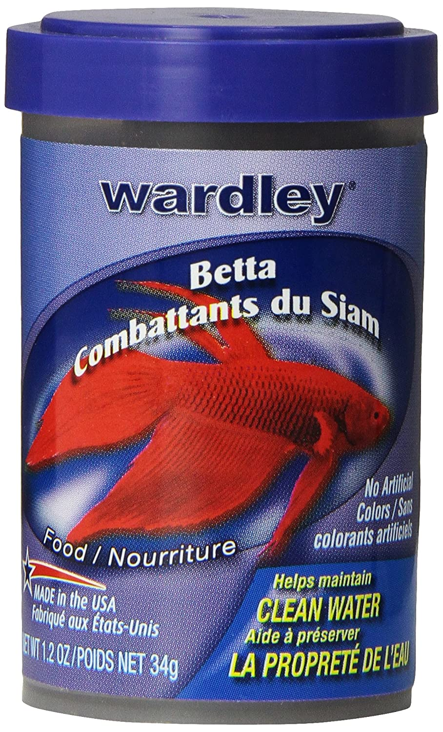 Amazon.com : HARTZ Wardley Betta Fish Food Pellets - 1.2 oz : Pet ...