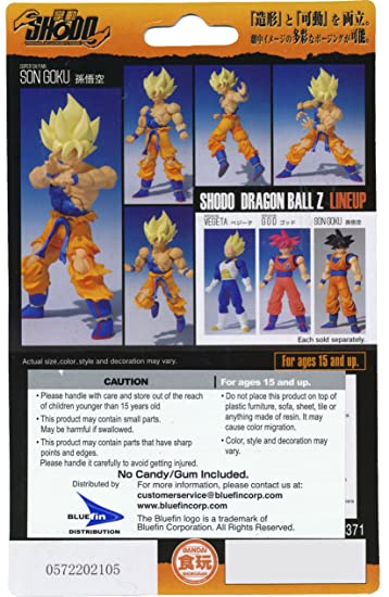 amazon com dragonball z super saiyan goku 3 2 renewal x shodo micro action figure toys games