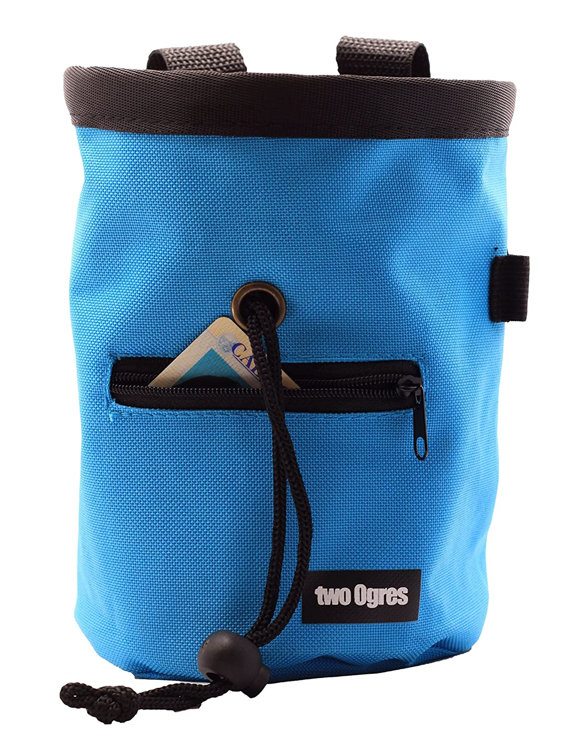 Weight Lifting two Ogres Essential-Z Climbing Chalk Bag with Belt and Zippered Pocket for Climbing Gymnastics