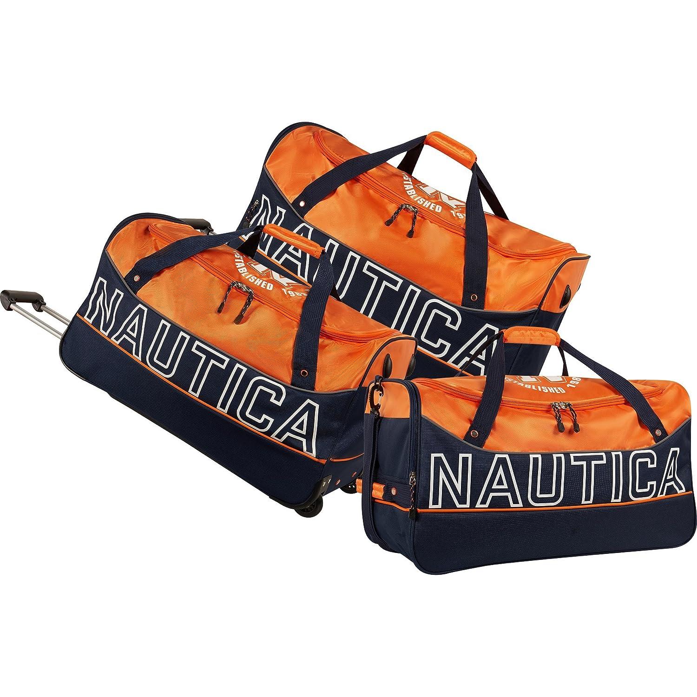 Nautica Chronometer 3 Piece Wheeled Duffle Set
