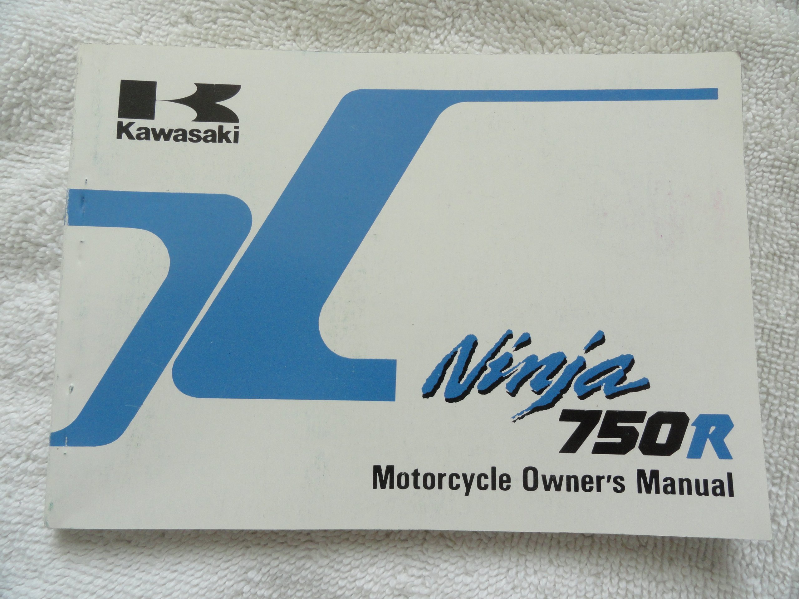 1989 1990 Kawasaki Ninja 750 R Owners Manual ZX 750 F4 ...