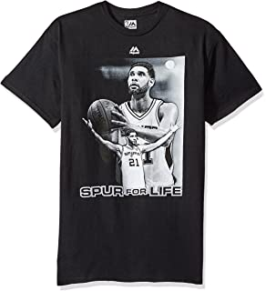 NBA Mens Tim Duncan 21 Spur for Life Tee