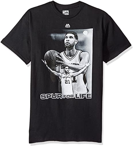 Amazon.com   NBA San Antonio Spurs Men s Tim Duncan 21 Spur for Life ... dda5a0e2d