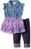 Little Lass Baby Girls' 2 Piece Fashion Capri Set