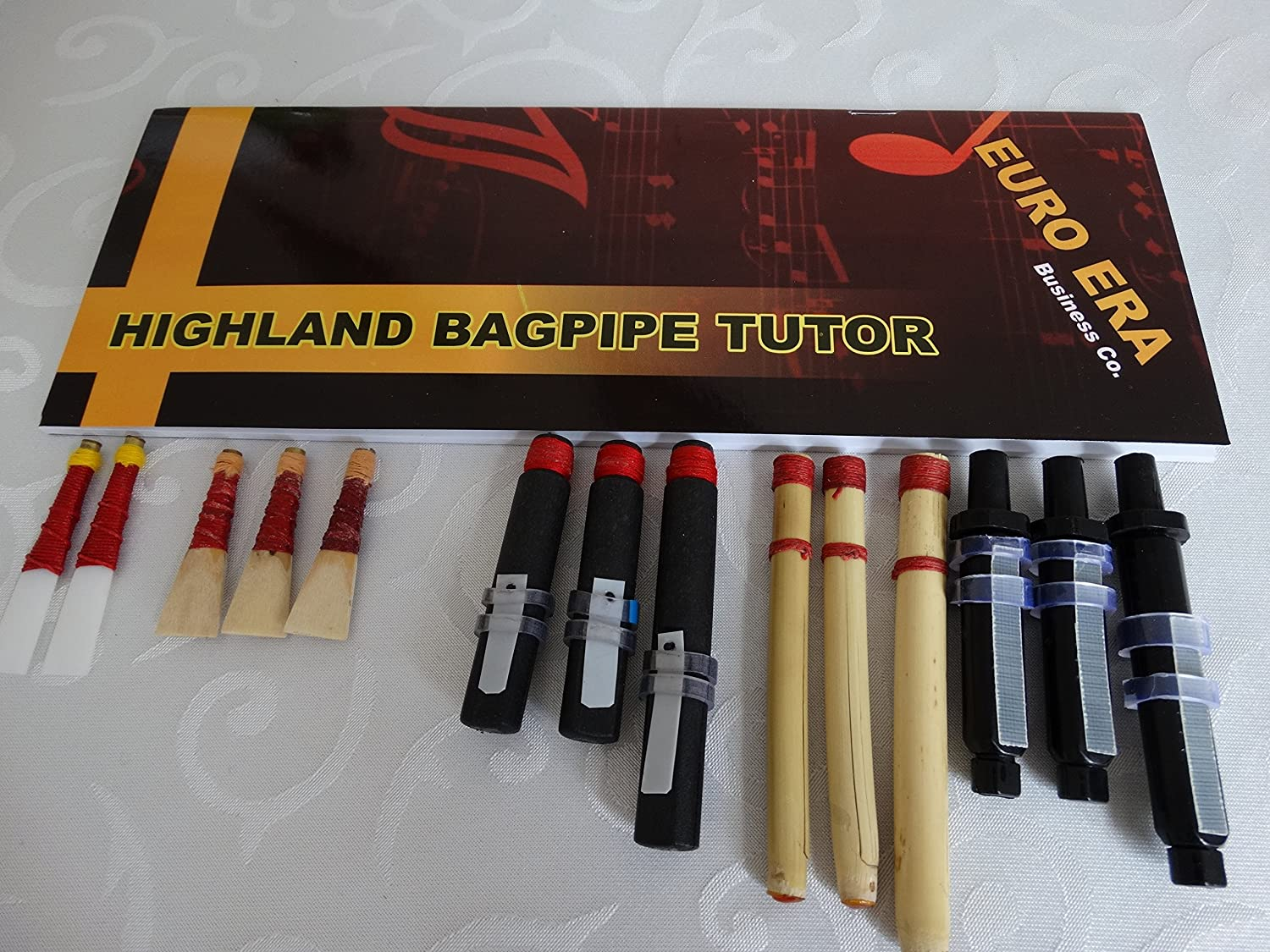 Scottish Bagpipe Drone & Reeds Set with Tutor Book Euro Era Business erb 49