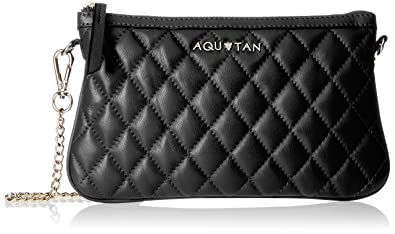 Aquatan Women's Chain My Heart Chained Small Leather Sling Bag Black AT-S-41