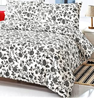 Amazon.com: French Country White Gray Floral Full Queen Size Duvet ...