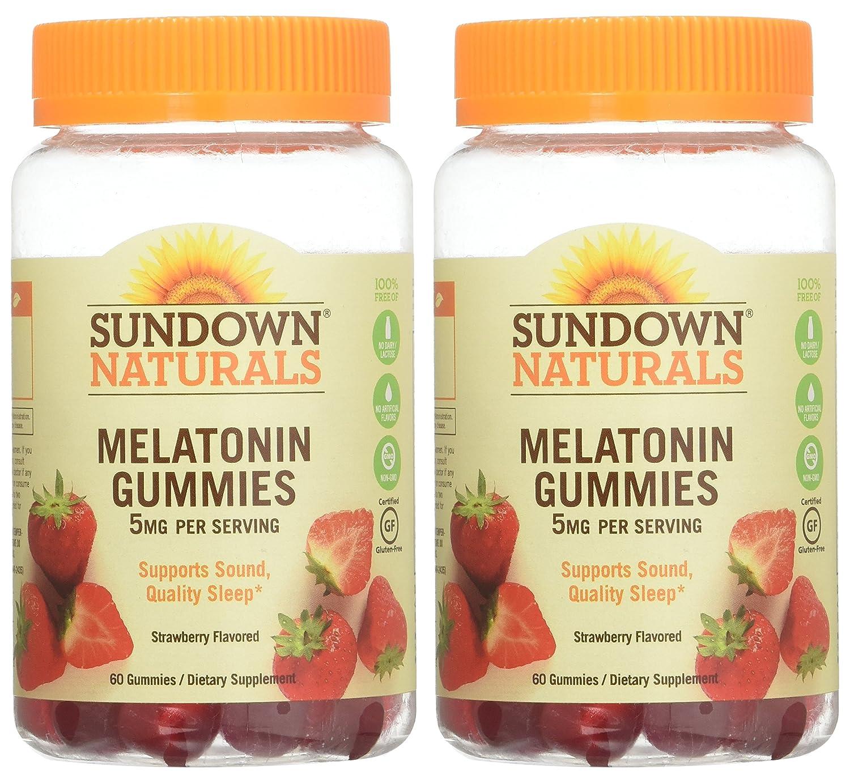 Amazon.com: Sd Melatonin Gummies Size 60ct Sundown Melatonin Gummies 60ct (2 Pack): Home & Kitchen