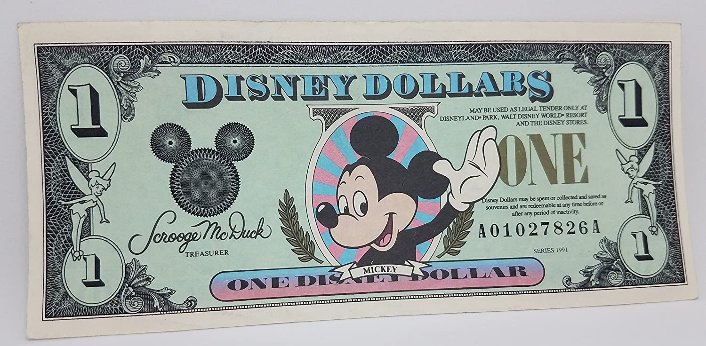 UNC THE FIFTH YEAR DISNEY 1991D 1 DOLLAR